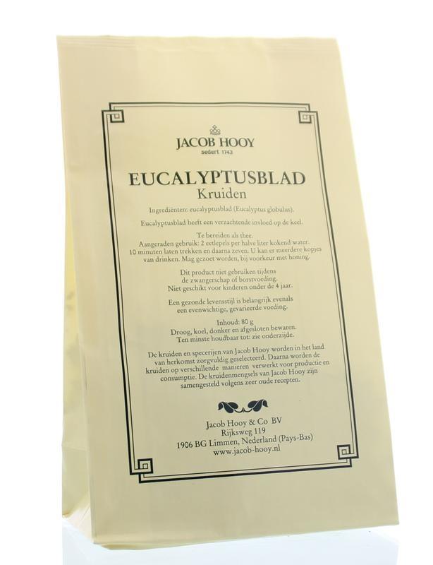 Jacob Hooy Jacob Hooy Eucalyptusblad (geel zakje) (80 gram)
