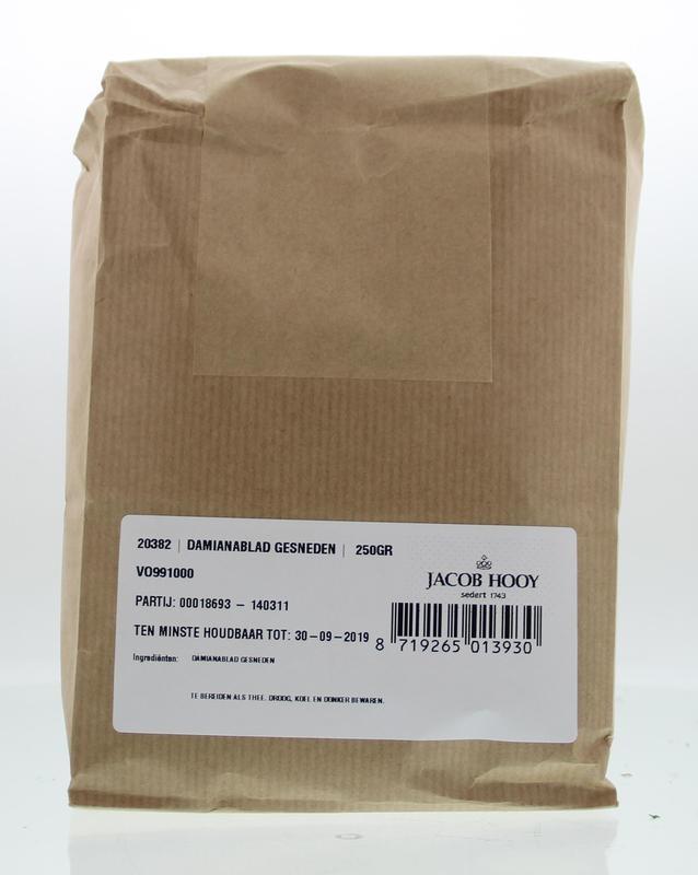 Jacob Hooy Jacob Hooy Damiana blad gesneden (250 gram)