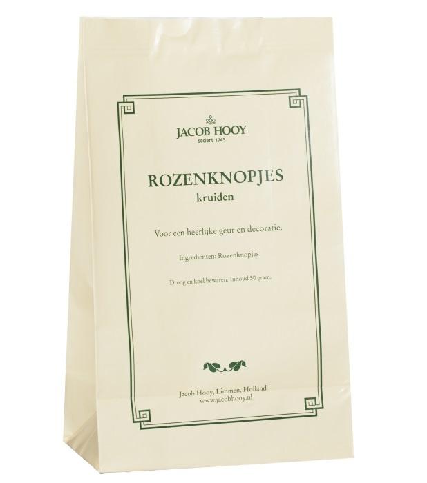 Jacob Hooy Jacob Hooy Rozenknopjes roze (geel zakje) (50 gram)