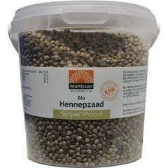 Mattisson Hennepzaad ongepeld biologisch (400 gram)