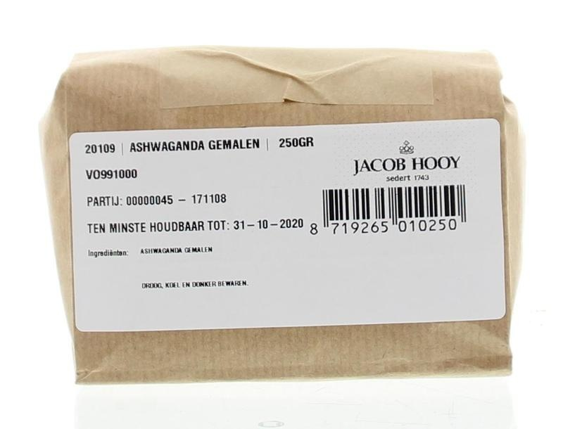 Jacob Hooy Jacob Hooy Ashwagandawortel gemalen (250 gram)