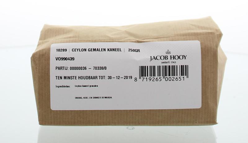 Jacob Hooy Jacob Hooy Kaneel ceylon gemalen (250 gram)