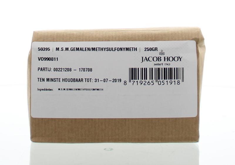 Jacob Hooy Jacob Hooy MSM gemalen methylsulfonylmethaan (250 gram)