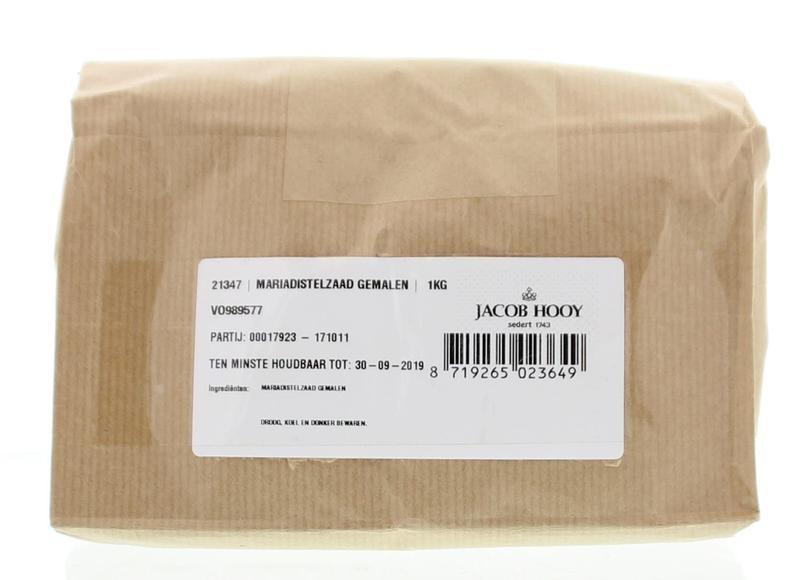 Jacob Hooy Jacob Hooy Mariadistelzaad gemalen (1 kilogram)