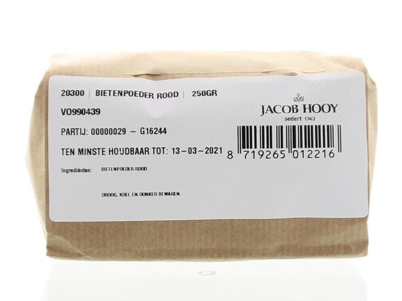 Jacob Hooy Jacob Hooy Bietenpoeder rood (250 gram)