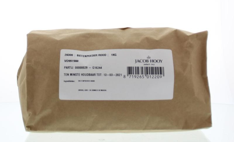 Jacob Hooy Jacob Hooy Bietenpoeder rood (1 kilogram)
