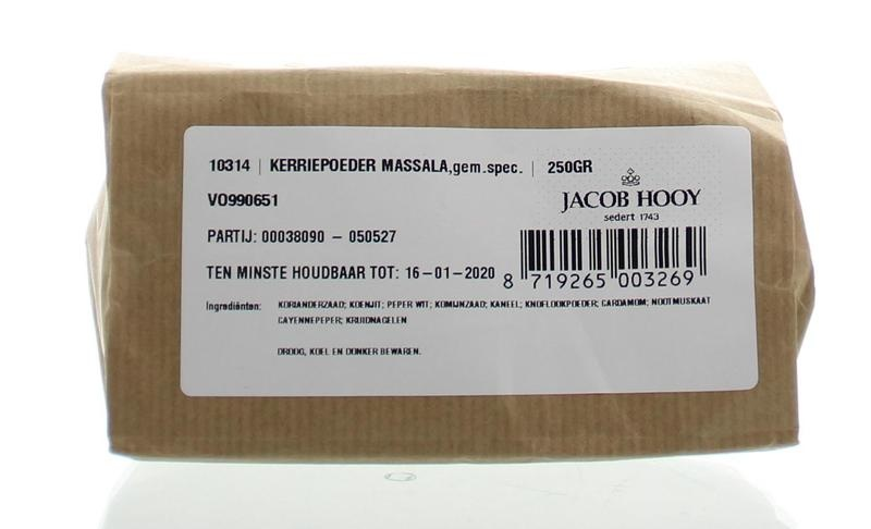 Jacob Hooy Jacob Hooy Kerriepoeder massala (250 gram)