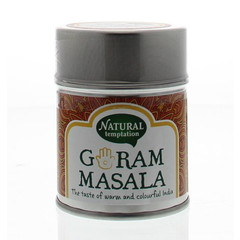 Nat Temptation Garam masala blikje natural spices (50 gram)