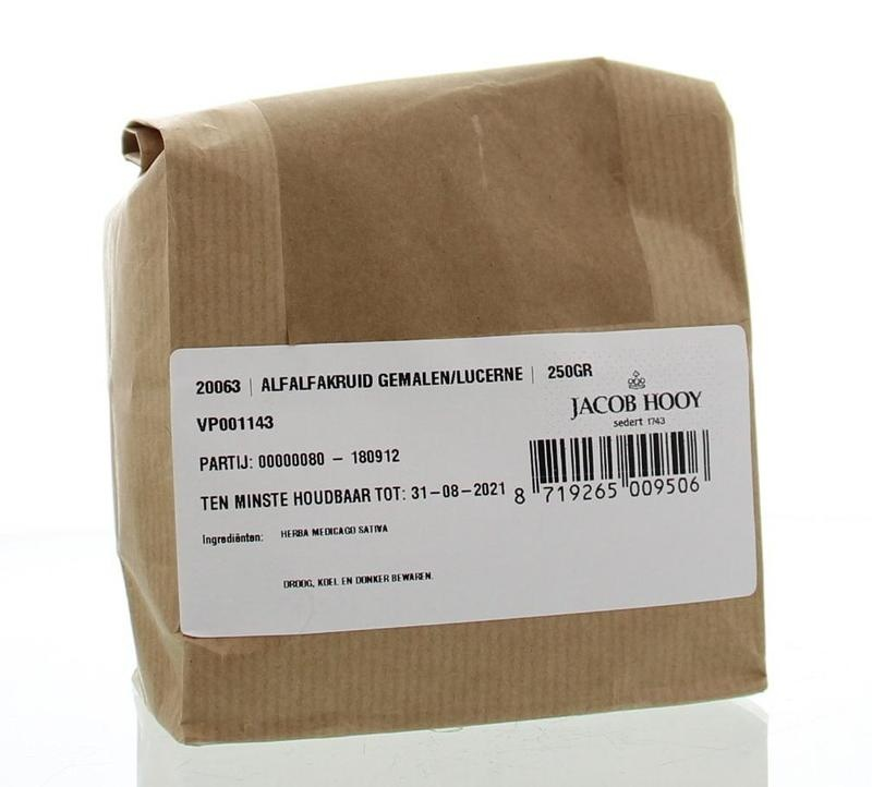Jacob Hooy Jacob Hooy Alfalfakruid gemalen (250 gram)