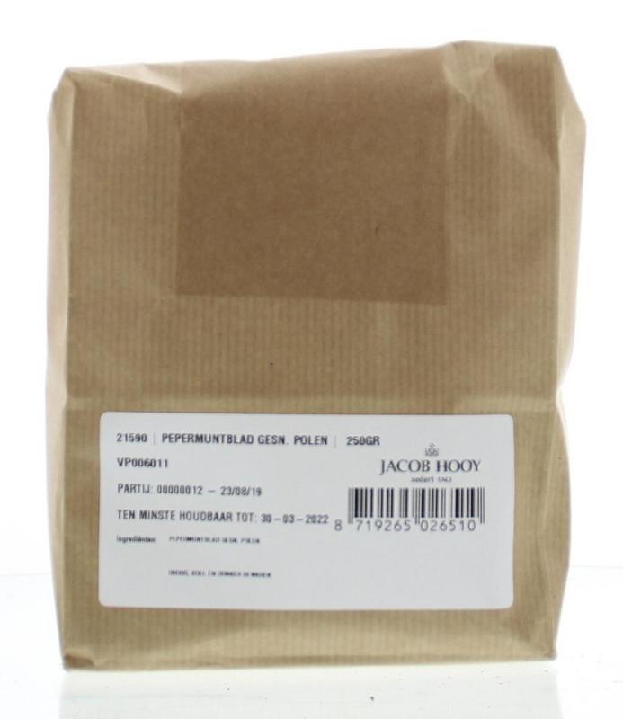 Jacob Hooy Jacob Hooy Pepermuntblad gesneden Polen (250 gram)