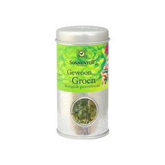Sonnentor Gewoon groen metalen bus (15 gram)