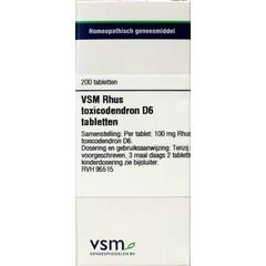 VSM Rhus toxicodendron D6 (200 tabletten)