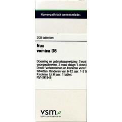 VSM Nux vomica D6 (200 tabletten)