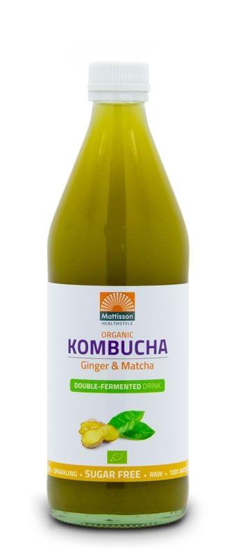 Mattisson Mattisson Kombucha ginger & matcha double fermented bio (500 ml)