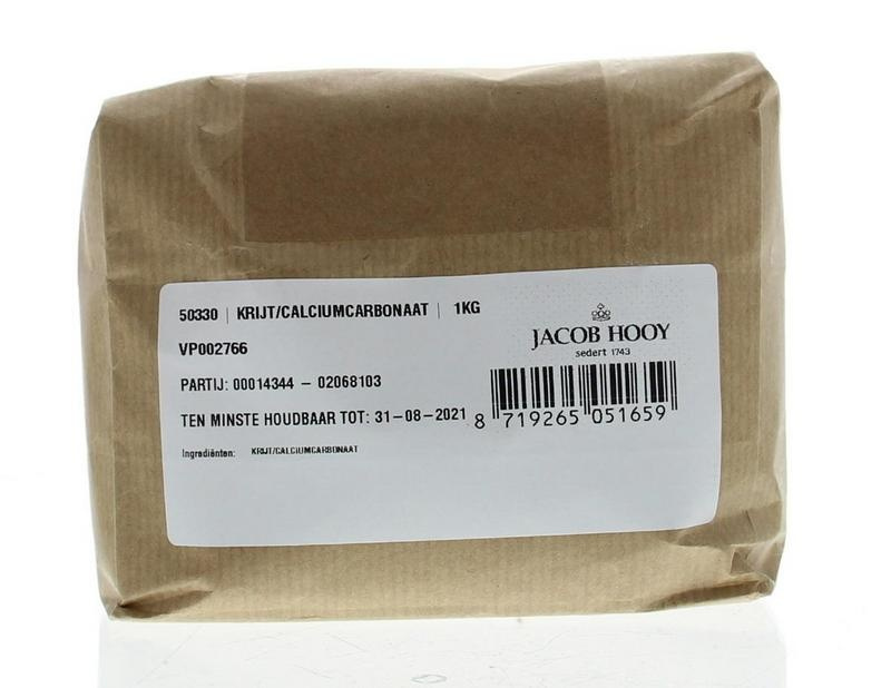 Jacob Hooy Jacob Hooy Krijt calciumcarbonaat (1000 gram)