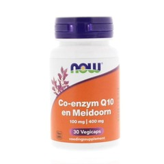 NOW Co-Q10 100 mg met meidoorn (30 vcaps)