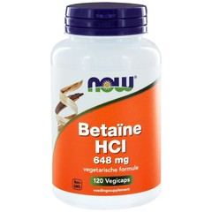 NOW Betaine HCL 648 mg (120 vcaps)