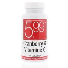 5.99 Cranberry & Vitamine C (77 tabletten)