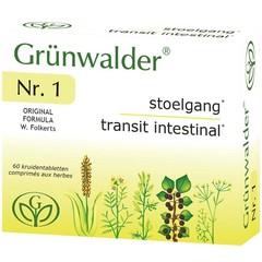 Grunwalder Nr 1 natuurlijke stoelgang (60 tabletten)