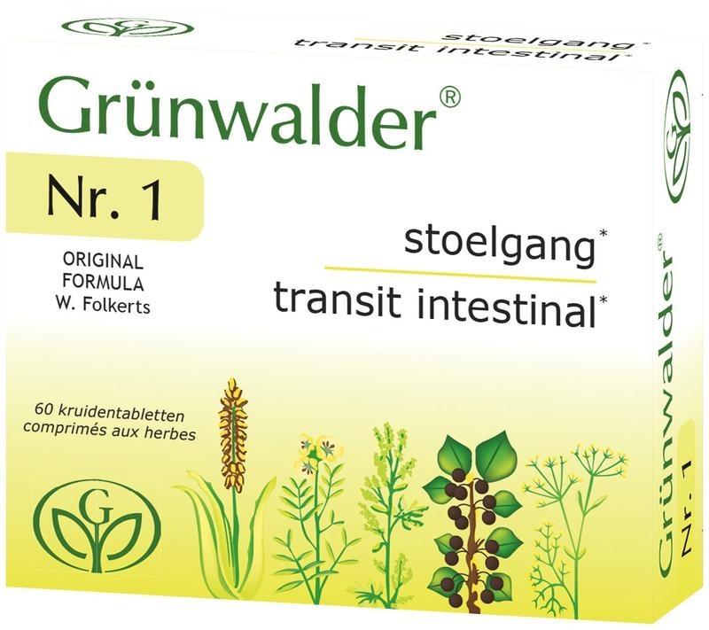 Grunwalder Grunwalder Nr 1 natuurlijke stoelgang (60 tabletten)