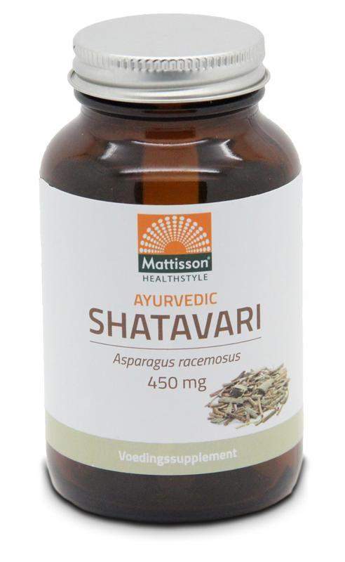 Mattisson Mattisson Ayurvedic Shatavari asparagus racemosus 450 mg (120 tabletten)
