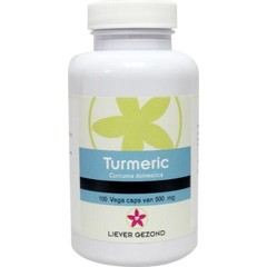 Liever Gezond Turmeric curcuma 500 mg (100 capsules)