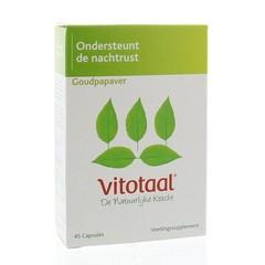 Vitotaal Goudpapaver (45 capsules)