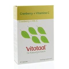 Vitotaal Cranberry + C (45 capsules)