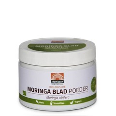 Mattisson Moringa blad poeder moringa oleifera biologisch (125 gram)