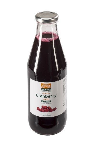 Mattisson Mattisson Absolute cranberry sap juice licht gezoet (750 ml)