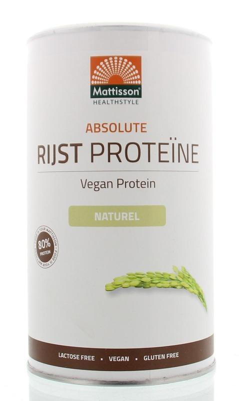 Mattisson Mattisson Absolute rijst proteine poeder vegan 80% (400 gram)