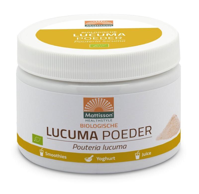 Mattisson Mattisson Lucuma poeder pouteria lucuma biologisch (125 gram)