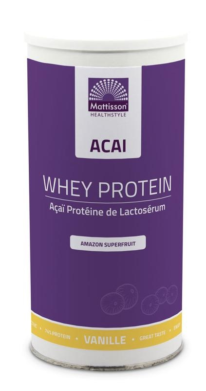 Mattisson Mattisson Acai whey protein vanille (450 gram)
