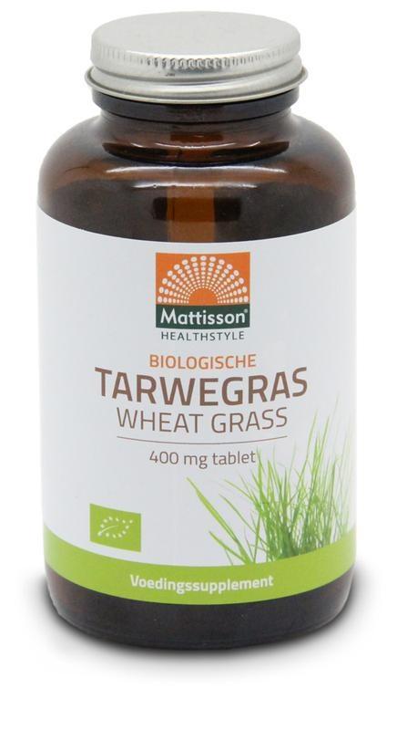 Mattisson Mattisson Bio tarwegras wheatgrass tabletten raw 400 mg (350 tabletten)