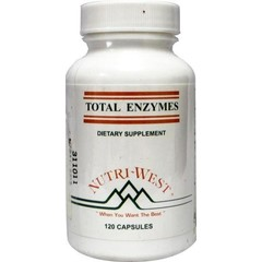 Nutri West Total enzymes (120 tabletten)