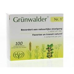 Grunwalder Nr 1 kruidentablet (100 tabletten)