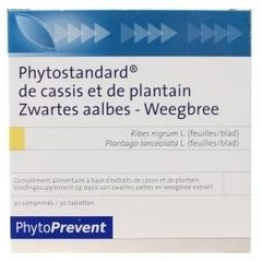 Phytostandard Zwarte aalbes/weegbree (30 tabletten)
