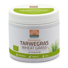 Mattisson Bio tarwegras wheatgrass poeder raw (125 gram)