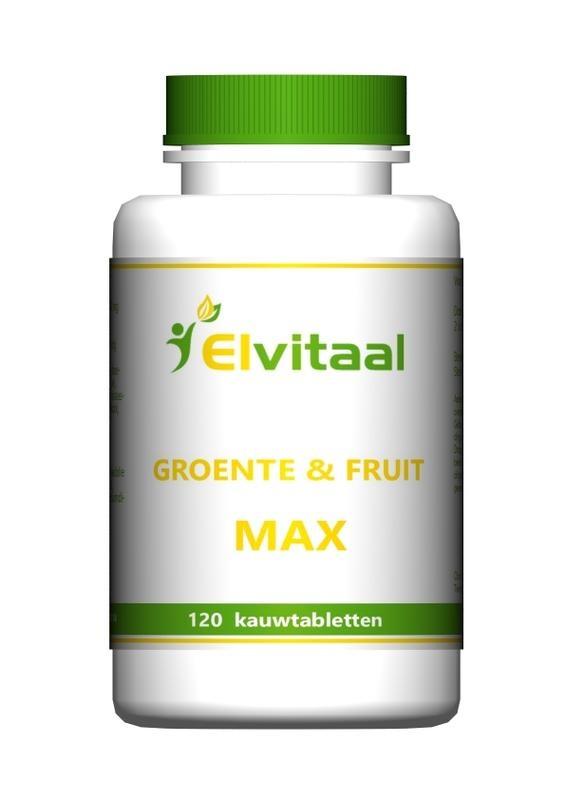 Elvitaal Groente en fruit max (120 kauwtabletten)