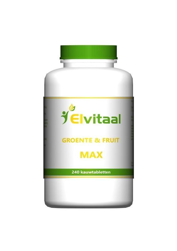 Elvitaal Groente en fruit max (240 kauwtabletten)