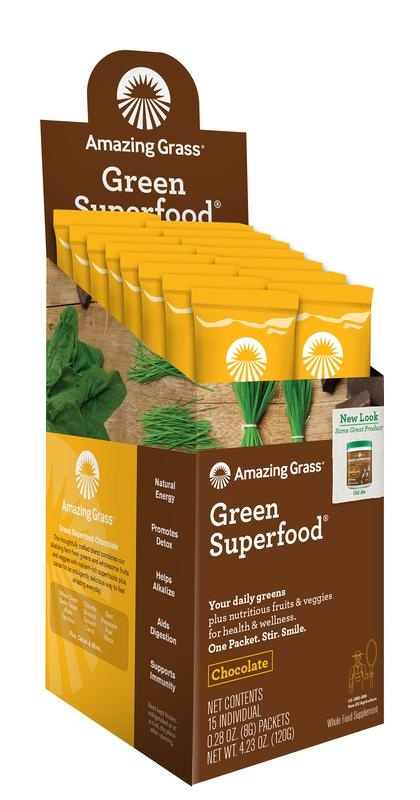 Amazing Grass Amazing Grass Chocolate green superfood (15 sachets)