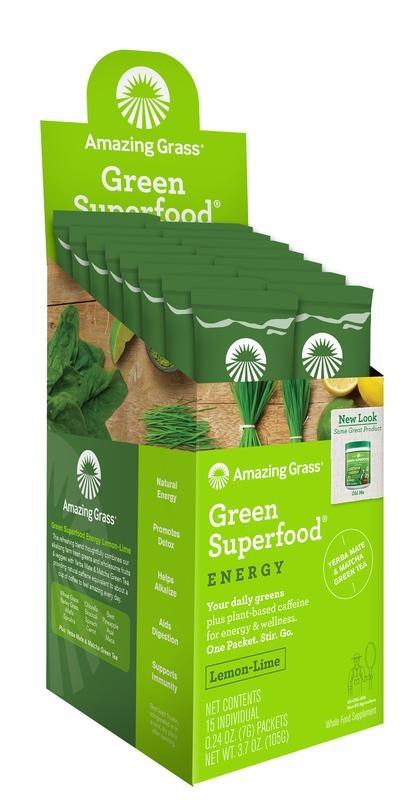 Amazing Grass Amazing Grass Energy lemon lime green superfood (15 sachets)
