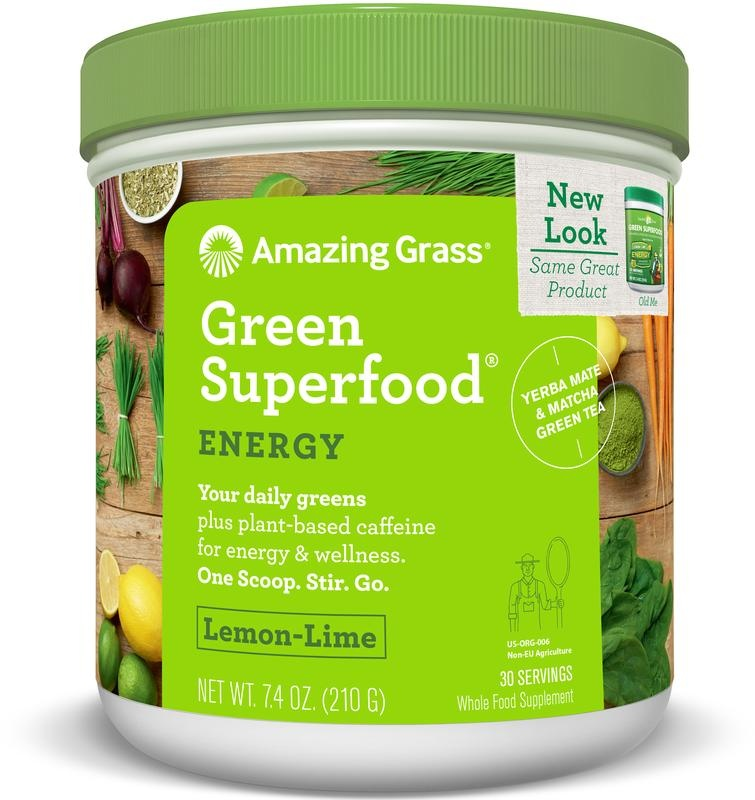 Amazing Grass Amazing Grass Energy lemon lime green superfood (210 gram)