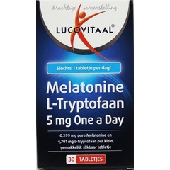 Lucovitaal Melatonine L-tryptofaan 5 mg (30 tabletten)