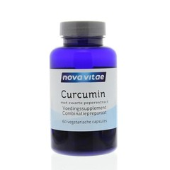 Nova Vitae Curcumin zwarte peper extract (60 vcaps)