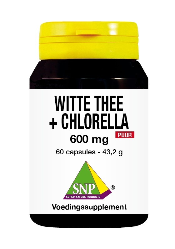 SNP SNP Witte thee Chlorel 600 mg puur (60 capsules)