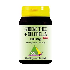 SNP Groene thee chlorella 500 mg puur (60 capsules)