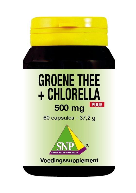 SNP SNP Groene thee chlorella 500 mg puur (60 capsules)