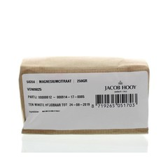 Jacob Hooy Magnesiumcitraat poeder (250 gram)