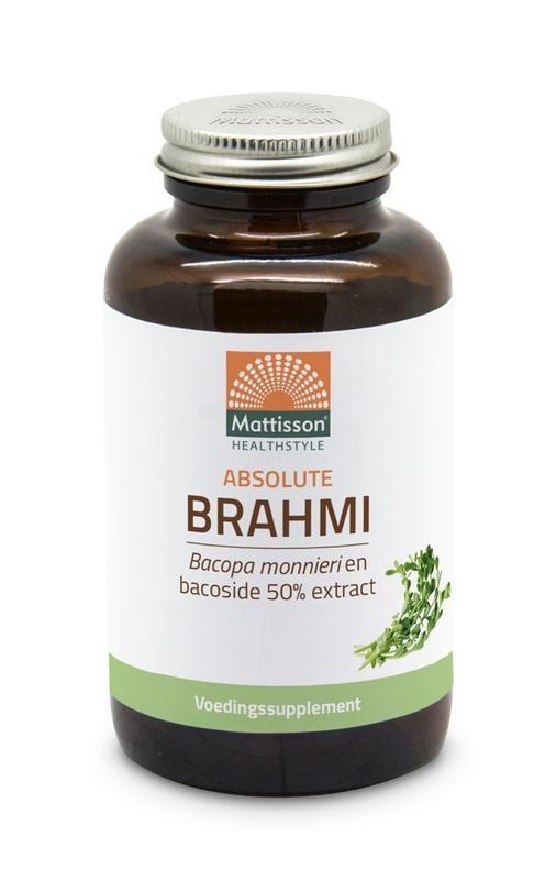 Mattisson Mattisson Brahmi bacopa monnieri bacoside 50% extract (120 tabletten)
